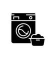 washing machine - laundry service icon vector image