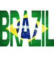 - Brasil 2014 Letters with Brazilian Flag vector image