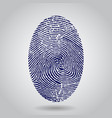 blue isolated fingerprint on grey vector image