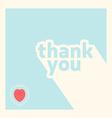 Thank you card design template vector image
