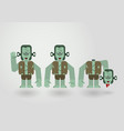 characteristic of frankenstein in concept of vector image