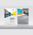 annual report brochure cover design template vector image vector image