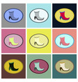 assembly flat icons high-heeled boots vector image vector image