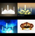 attractive set of ramadan kareem background vector image vector image