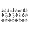 avatars in black vector image vector image