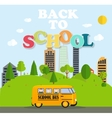 Back to School Background with Yellow Bus vector image vector image