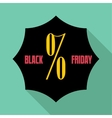 Black Friday sale icon flat style vector image vector image