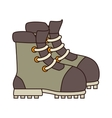 Boot footwear icon design vector image