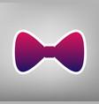 bow tie icon purple gradient icon on vector image