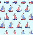 cartoon boat sailboat seamless pattern vector image vector image
