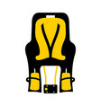 child babike seat vector image vector image
