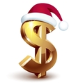 Christmas dollar vector image vector image