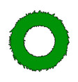 christmas wreath symbol icon design green circle vector image