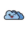 cloud cartoon smiley vector image