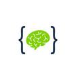 code brain logo icon design vector image vector image