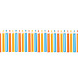 colored pencils repeating horizontal border vector image vector image