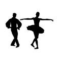 couple ballet dancers vector image vector image