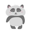 cute panda bear animal vector image vector image