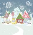 Cute winter cityscape vector image vector image