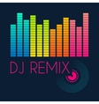 dj remix typography t-shirt graphics vector image vector image