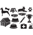 Dog icons vector image vector image