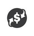 dollar exchange icon vector image
