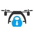 Drone Unloading Icon vector image vector image