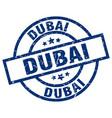 dubai blue round grunge stamp vector image vector image