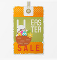 easter price tag vector image vector image