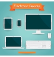 Electronic devices - computer laptop tablet and vector image