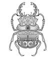 entangle odontolabis cuvera bug vector image vector image
