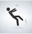 falling person silhouette pictogram vector image