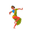 female indian dancer in traditional clothes young vector image vector image