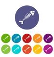Fish bone set icons vector image vector image
