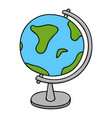 globe - model of earth colored doodle style vector image
