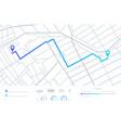 gps navigation planning routes mobile navigating vector image