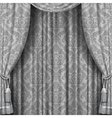 Gray curtain vector image vector image