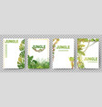 green tropical frames template jungle plants vector image
