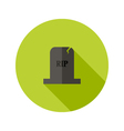 Grey Tombstone RIP Flat Icon vector image
