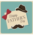 happy fathers day design vector image vector image