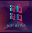 happy new year 2020 party futuristic design vector image