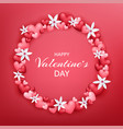 happy valentines day beautiful and cute card vector image vector image