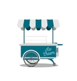 Ice-Cream Shop on Wheels for your Design vector image