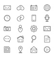 Internet Web and Mobile Icons Line vector image vector image