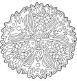 isolated floral art for coloring book page vector image vector image