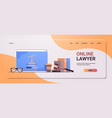 law and justice concept gavel judge books vector image vector image