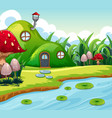 magic fairy house in nature vector image vector image