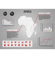 Map of Africa - infographic vector image vector image
