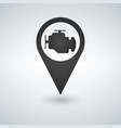 map pointer and map icon car service engine sign vector image