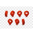 map pointer isometric pin set location symbols vector image